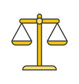 balance scale law and justice icon filled outline vector image