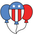balloons united state independence day related vector image vector image