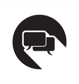 black icon with speech bubbles vector image vector image