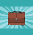 business leather briefcase vector image
