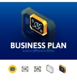 Business plan icon in different style vector image vector image
