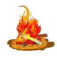 Camp fire sketch vector image