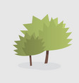 cartoon of two trees vector image