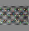christmas lights string border garland vector image vector image