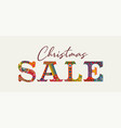 christmas sale traditional vintage greeting card vector image