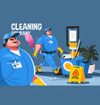 cleaning company service vector image