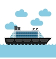 cruise boat in the sea vector image vector image