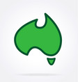 cute cartoon australia map stylized vector image vector image