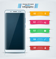 digital gadget smartphone business infographic vector image