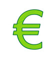 euro sign lemon scribble icon on white vector image vector image