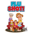 family member with flu shot sign vector image vector image