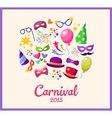 festive banner with carnival colorful vector image vector image