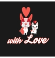 Funny dog lovers vector image