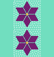 geometric purple flower consisting of isometric cu vector image vector image