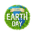 green earth day vector image vector image