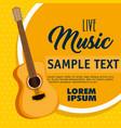 guitar acoustic instrument label vector image vector image