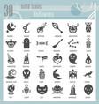 halloween glyph icon set horror symbols vector image