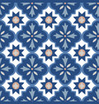 hand drawn blue moroccan seamless pattern vector image vector image