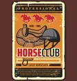 horserace professional horse jockey club vector image