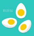 icon hard-boiled eggs vector image vector image