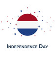 independence day of netherlands patriotic banner vector image vector image