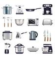 kitchen accessories set vector image