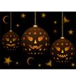 lanterns for halloween vector image vector image