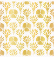 luxury gold foil flower damask seamless vector image