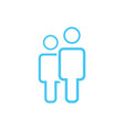 male and female icon thin line for web and mobile vector image vector image