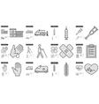 Medicine line icon set vector image