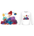 mermaid theme outfit mock up vector image vector image