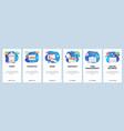 mobile app onboarding screens online business vector image vector image