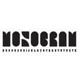 monogram logo font abstract bauhaus alphabet vector image