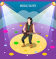 musical talents isometric composition vector image vector image