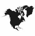 north america map monochrome america icon vector image