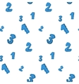 Numbers painted with careless blue color seamless vector image vector image