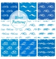 Ocean waves seamless pattern backgrounds vector image vector image