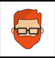 people avatar face men with glasses icon vector image vector image