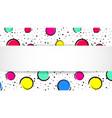 pop art colorful confetti background big colored vector image vector image