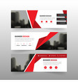 red abstract polygon corporate business vector image vector image