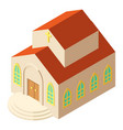 religious church icon isometric style vector image vector image