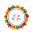 Round banner advertising and autumn vector image vector image