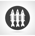 Sardines round black icon vector image