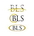 save download preview b logo b design logo vector image vector image