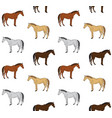 seamless pattern hand draw colored horse vector image vector image