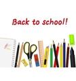 set of school supplies vector image vector image