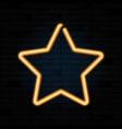shining star glowing on dark background bright vector image