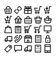 shopping icons 1 vector image