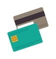 silhouette pair credit card with band vector image vector image