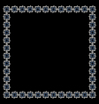 Simple geometric ethnic frame on black vector image vector image